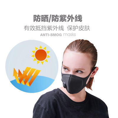 Unisex Sponge Dustproof PM2.5 Pollution Half Face Mouth Mask With Breath Wide Straps Washable Reusable Muffle Respirator 3