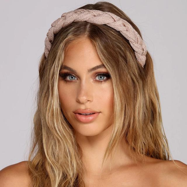 Autumn Hair Accessories Wide Shiny Weaving Hairbands Braided Headband Hair Hoop Fashion Hair Band