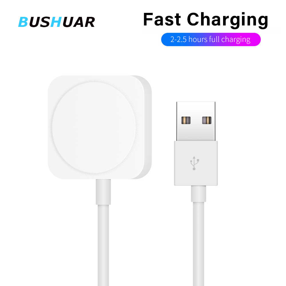 Cargador inalámbrico 2 en 1 para Apple Watch Series 1 2 3 4 Cable de carga magnética USB 3,3 pies/1 metro para iPhone X XR XS 8 8 Plus