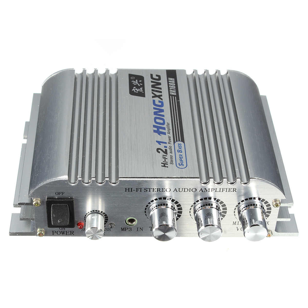 ハイファイ 2.1 アンプ 300 ワット 12V ミニデジタルアンプブースターラジオステレオフィット車のサブウーファプラグインするための MP3 /MP4/CD プレーヤー