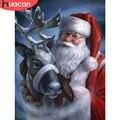 HUACAN 5д Алмазная вышивка Дед мороз декор для дома Алмазная мозаика живопись рождество олень картины стразами