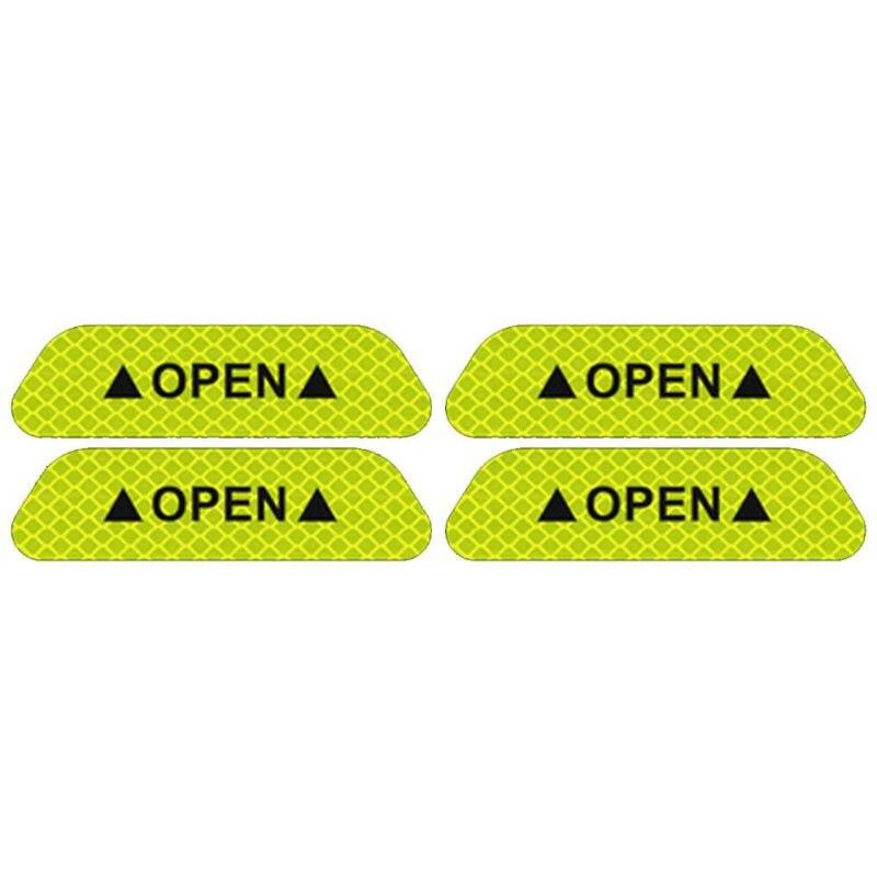 4 шт./компл. двери автомобиля стикеры сделай сам автомобиль открыть светоотрающей полосой Предупреждение отражающая открытая уведомления велосипедные аксессуары для экстерьера - Название цвета: Green
