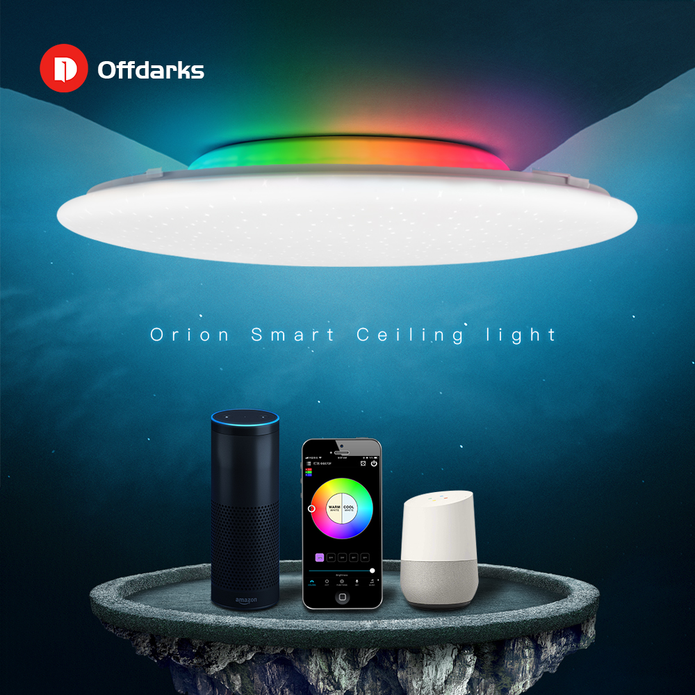 OFFDARKS Smart Modern LED Ceiling Light RGB 48W/60W Dimming Color Wifi Voice Control For Living Room Bedroom Kitchen Ceiling Lam