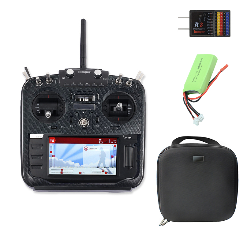 Jumper T16 Pro V2 NEW Hall Gimbal Open Source Multi-protocol Radio Transmitter JumperTX 2.4G 16CH 4.3 Inch LCD For FPV Drone