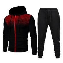 Conjunto de chándal de poliéster para hombre, ropa deportiva de 2 piezas, sudaderas informales y pantalones con estampado 3D, no