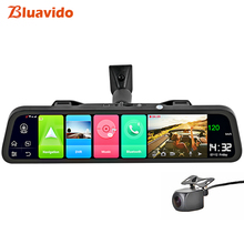 Bluavido English 4G Android 8.1 Car DVR Camera GPS 12-in Rearview mirror 2G RAM dash cam Video recorder ADAS Parking Monitoring