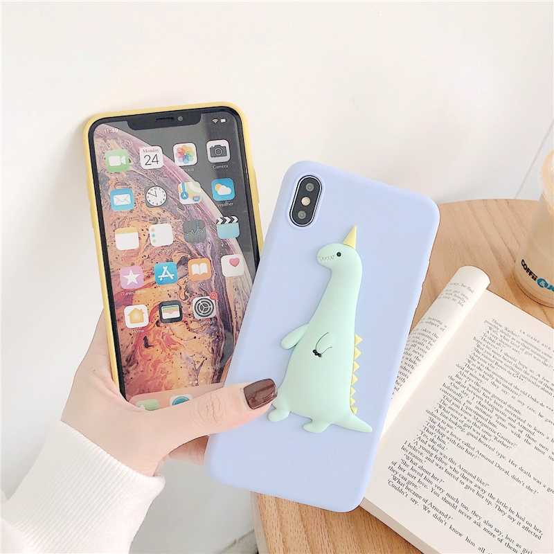 Samsung A30 A50 A70 A80 A40 M30 A20S 3D sevimli dinozor DIY durumda Samsung Galaxy A7 A8 A6 artı 2018 civciv yumuşak TPU kapak