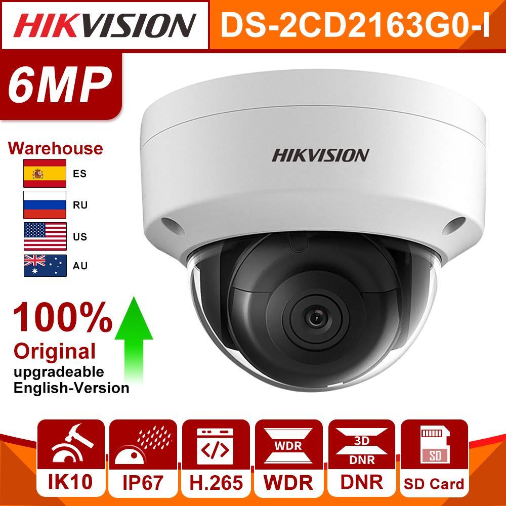 Hikvision Original 6Mp IP Kamera DS-2CD2163G0-I MINI Dome Netzwerk Kamera Sd-karte CCTV sicherheit kamera