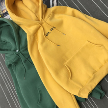 Women Oh yes Letter Print Hoodies Casual Harajuku Long Sleeve Pullovers Autumn Winter Hooded Sweatshirts Streetwear letter print hooded sweatshirts