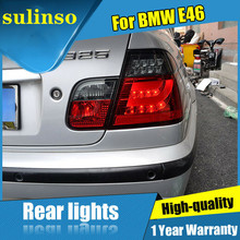 цена на Sulinso 4PCS  For BMW-E46 Dark / Red LED Rear Lamps Assembly LED Tail Lights 2001-2005