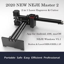 2020 חדש NEJE מאסטר 2 20W שולחן העבודה CNC לייזר חרט נייד DIY חריטת גילוף מכונת חיתוך לייזר חריטת מכונת