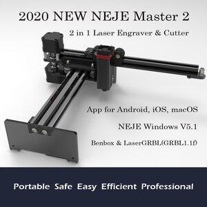 Image 1 - 2020 nouveau NEJE Master 2 20W bureau CNC Laser graveur Portable bricolage gravure sculpture Machine Laser découpe gravure Machine