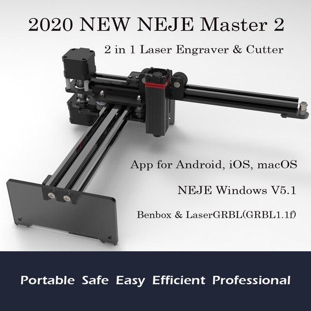 2020 nouveau NEJE Master 2 20W bureau CNC Laser graveur Portable bricolage gravure sculpture Machine Laser découpe gravure Machine