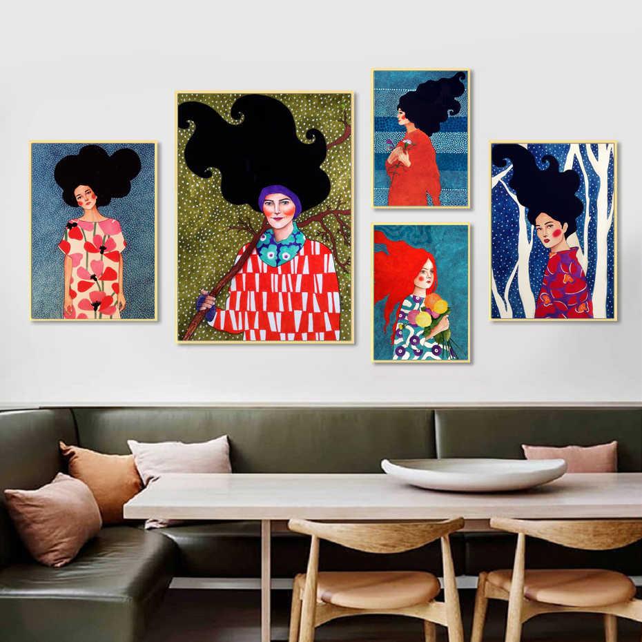Nordic Handdraw Zeichen Moderne Stil Bunte Leinwand Malerei Poster Drucken Dekor Wand Kunst Bilder Für Wohnzimmer Schlafzimmer