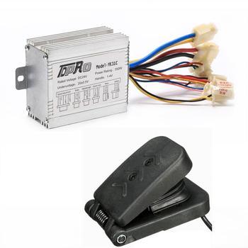 Caja del controlador eléctrico de motocicleta de alto rendimiento de 24V y 350W + Pedal de acelerador para Scooter ATV Quad ATV, Buggy Go Kart Bike