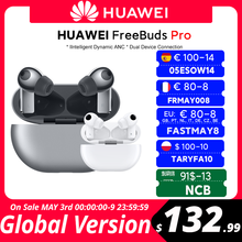 CODE:FRMAY008 80€-8 off HUAWEI – smartphone Freebuds Pro, Version globale, Qi, Charge sans fil, fonction ANC, pour Mate 40 Pro, P30 Pro, en Stock