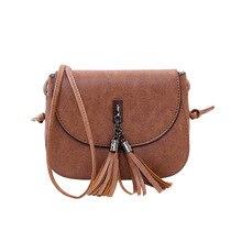 Мини женские сумки-мессенджеры из искусственной кожи, женская сумка через плечо с кисточкой, одноцветные клатчи с цепочкой, женские сумки через плечо, сумка-тоут