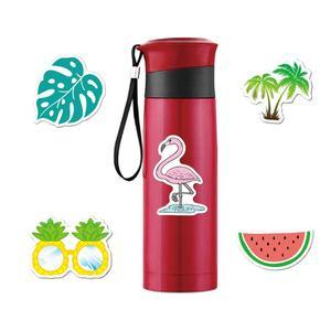 Image 2 - 5Pcs Adesivi Per Auto Adesivi In Vinile Estate Estetica Pacchetto Flamingo Decalcomanie per il Computer Portatile Ipad Bagaglio Auto Bottiglia di Acqua Casco Camion