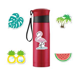 Image 2 - 5Pcs Car Stickers Vinyl Aesthetic Summer Stickers Pack Flamingo Decals for Laptop Ipad Car Luggage Water Bottle Helmet Truck