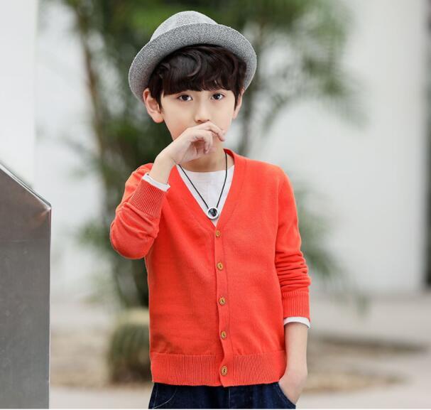 2019 Children's clothing boys sweater cardigan children's knit jacket for big children   autumn clothes xr22