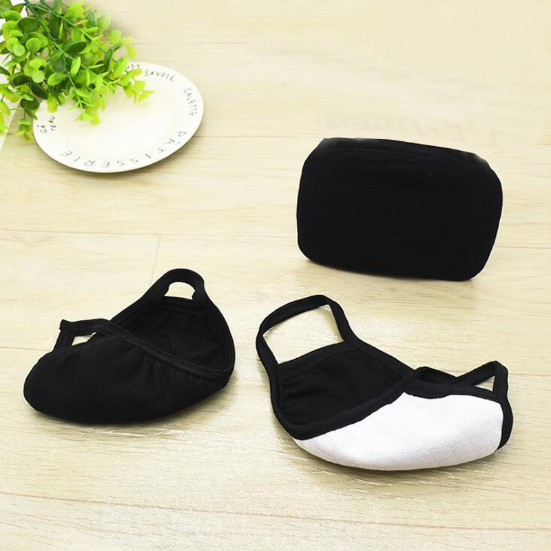 New Solid Color Black Autumn And Winter Cotton Masks For Men And Women Dust Cold And Haze Riding Hanging Ear Warm Masks