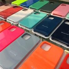 Oficial caso original para o iphone 12 pro 12mini x 7 8 plus 6s silicone líquido capa para apple iphone 11 pro max xs xr se 2020