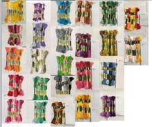 Mm cxc linha de ponto cruz o estilo único 8 ponto cruz fio bordado algodão costura floss skeins artesanato gradiente cor