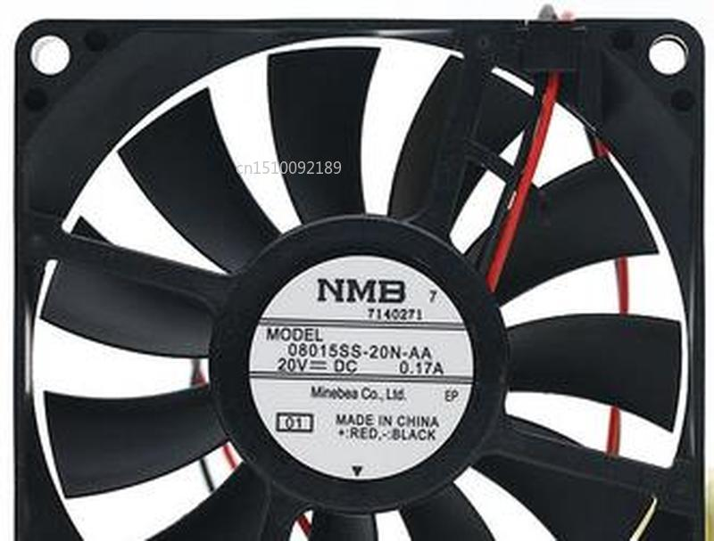 For 08015SS-20N-AA 20V 0.17A 8015 24V 8 Cm 2 Wire Converter Cooling Fan Free Shipping