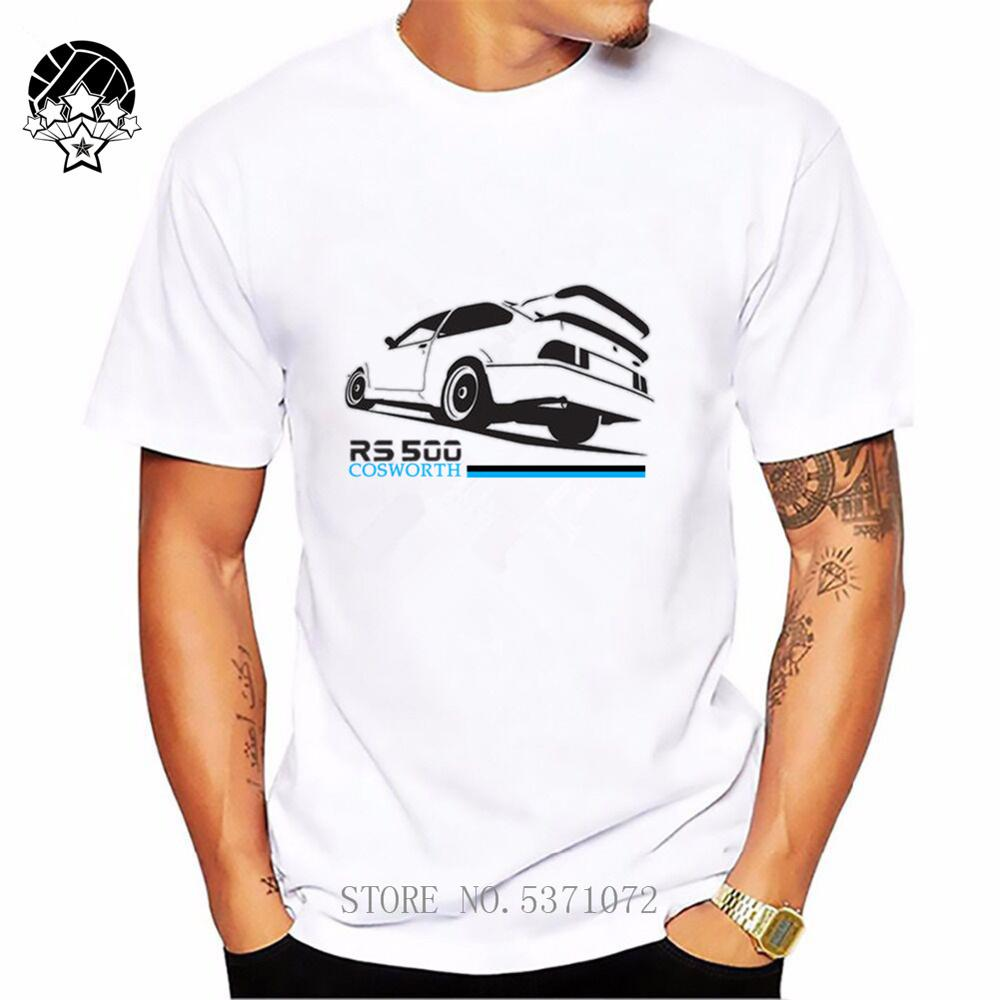 Ford Sierra Cosworth RS500 Retro Car Tops Tees Funny 2019 Fashion Men's Crewneck T Shirts Cheap Short Sleeve Male T-shirt