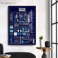 Doctor Who Canvas Poster Silk Fabric Modern Style Prints Party House Decor Room#20-1005-43-8-