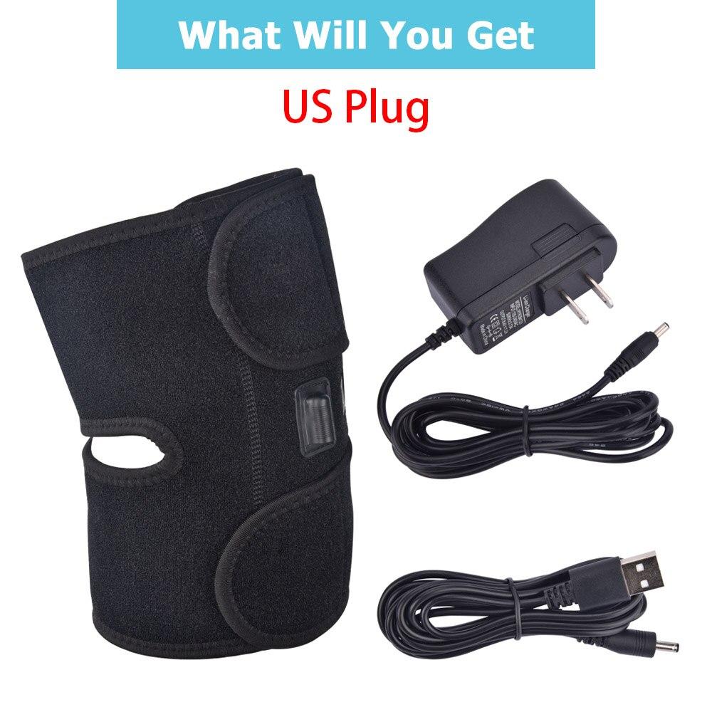 Heating Knee Brace support US plug