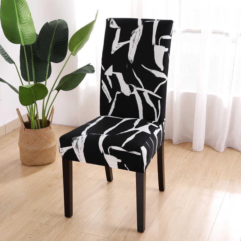 스트레치 탄성 의자 커버 스판덱스 웨딩 다이닝 룸 사무실 연회 housse 드 chaise 의자 커버