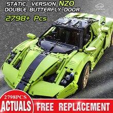 Toys Building-Blocks Mould King High-Tech Super-Racing Enzo Fit-Moc-46921 1:8 42115 Car-Set