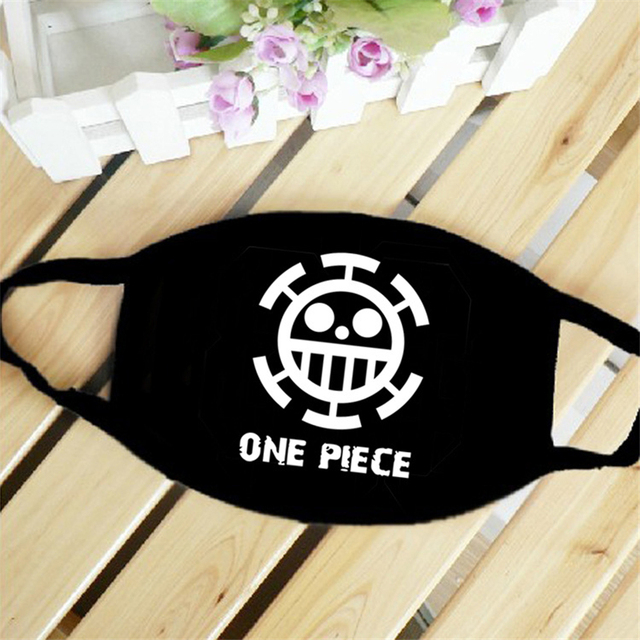 New Anime ONE PIECE Monkey D Luffy Skull The Straw Hat Pirates Symbol Trafalgar Law Cosplay Mask Sports Street Dust-Proof Masks 3