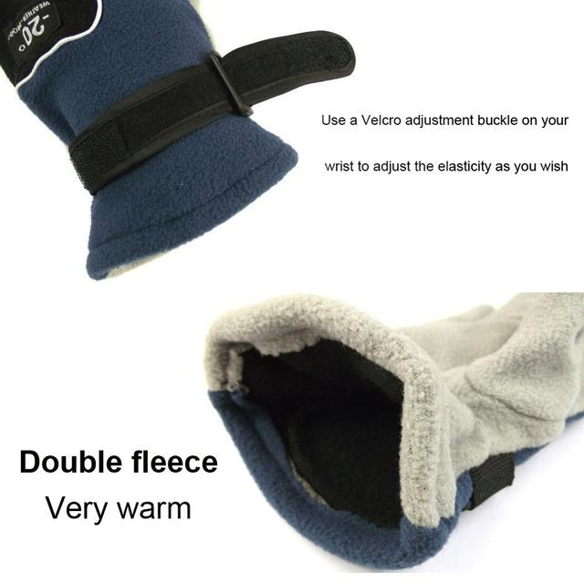 Autumn and winter outdoor riding fleece full finger gloves motorcycle electric bicycle windproof comfortable