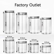 50 pçs/lote 100ml plástico armazenamento garrafa latas para alimentos doces chá mel maquiagem recipiente rangement tubo plástico pet tampas de alumínio
