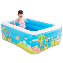 High Quality Childrens Home Use Paddling Pool Inflatable Square Swimming Heat Preservation Baby Kids inflatable