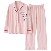 100% Cotton M-3xl 40-90kg  Women Pajamas Plus Size Pajama Set 1347