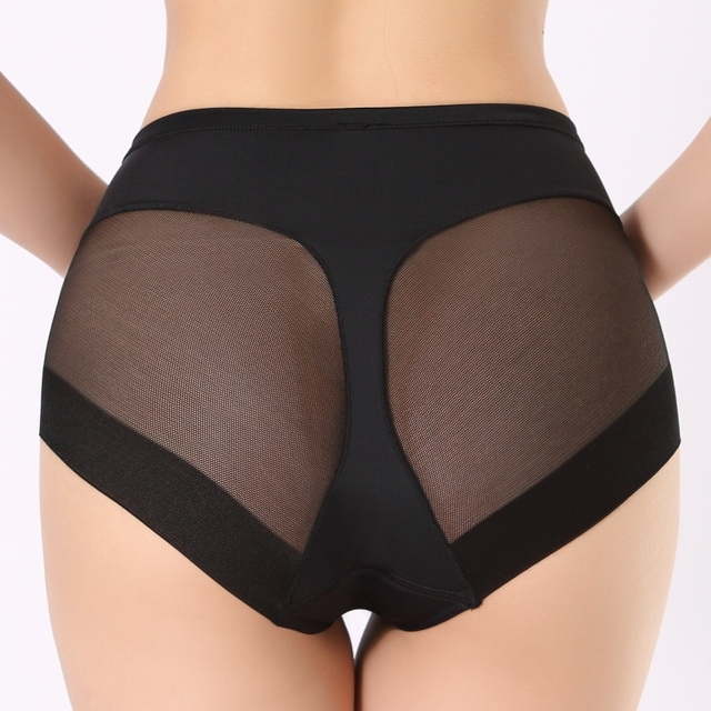 COLORIENTED Women Boyshorts Body Shaping Panties Female Pants High Elastic Control Briefs Seamfree Breathable Mesh Intimates 1