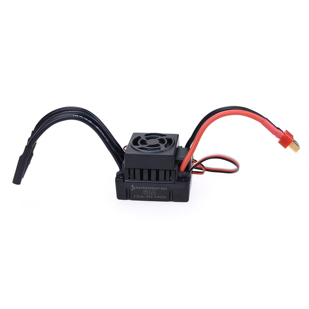 Waterproof 60A ESC Combo Set For 1/10 RC Crawler Brushed Car Replacement Parts Brushless Motor Speed Controller