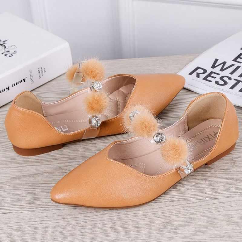 2020 yeni loafer'lar daireler çin rhinestone İngiliz tarzı siyah kristal kadın elbise ayakkabı üzerinde kayma kadın çin sivri burun J16-34