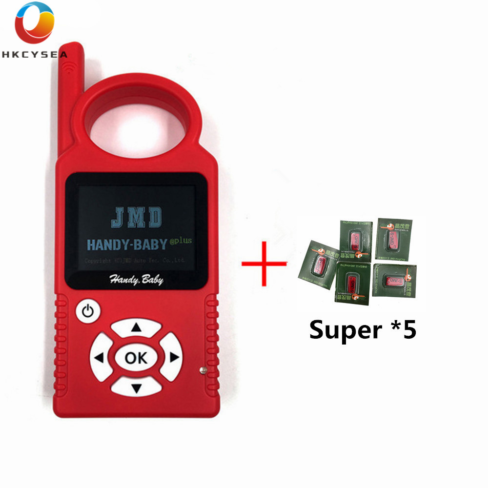 Big Sale V9.0.5 Handy Baby Auto Key Programmer With JMD 4C/4D/46/48 King Red Car Key Chip Support Multi Language With G Function