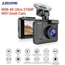 цена на AZDOME Car DVR M06 4K HD Ultra 2160P/24FPS WiFi Dash Cam DVRs Car Camera With GPS Night Vision Parking Monitor Motion Detection