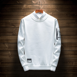 White Clothing Mens Hoodies Print Letter Fitness Mens Hoodies Dress No Hood Hip Hop Zipper Pullovers Sweatshirts Mens Homme 4XL