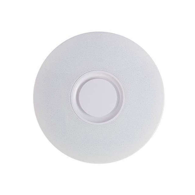 60W Rgb Flush Mount Round Starlight Music Led Ceiling Light Lamp With Bluetooth Speaker, Dimmable Color Changing Light Fixture W