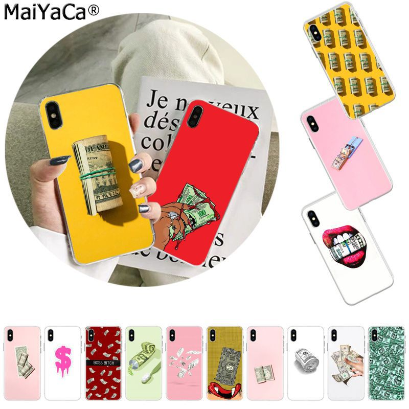 MaiYaCa Cartoon Money <font><b>Dollar</b></font> Rouble Pound Custom Photo <font><b>Phone</b></font> Case for Apple iphone 11 pro 8 7 66S Plus X XS MAX 5S SE XR cover image
