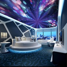 Custom ceilings Abstract blue colorful spiral fashion ceiling mural 3d murals wallpaper