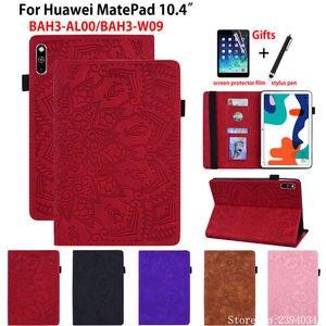 Чехол для Huawei MatePad 10,4 дюйма, чехол с подставкой из силикона и искусственной кожи с тиснением для планшета, чехол с рисунком, чехол, чехол-подс...