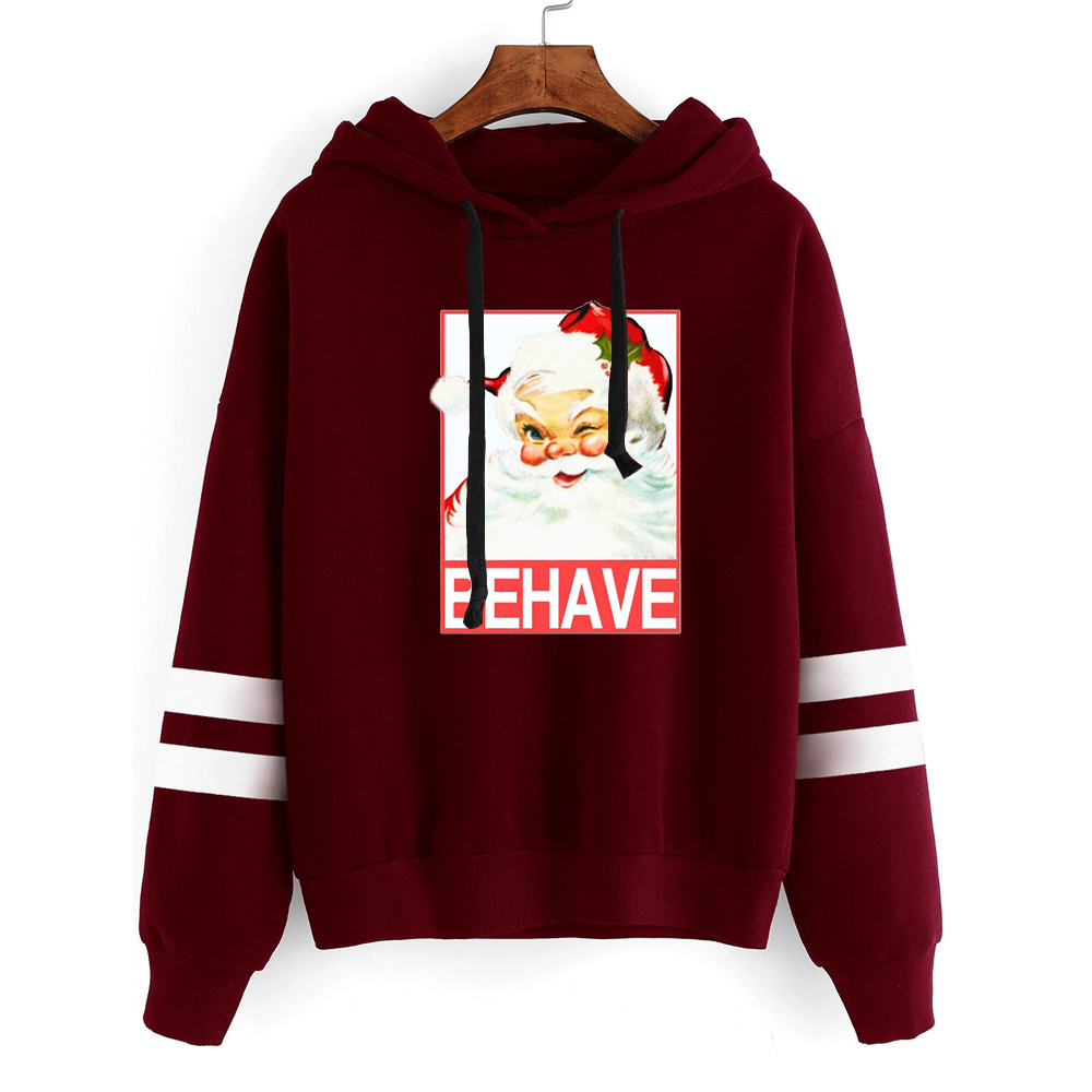 Christmas Santa Sweatshirt Womens Clothing Harajuku Hoodies Japanese Clothes Plus Size Woman Print Merry Christmas