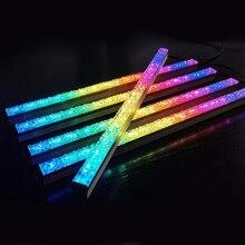 Addressable RGB LED Light Bar Desktop PC Case Diamond Lens ARGB PC Chassis Light Household